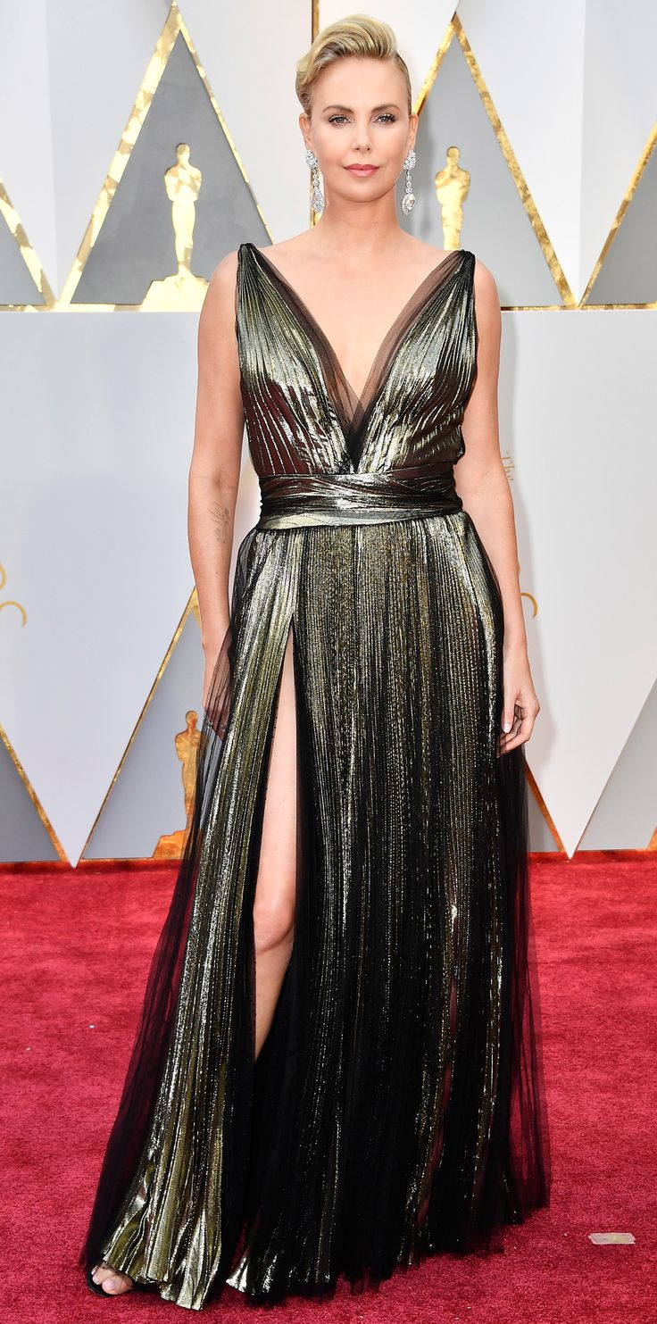 Here Are Our Top 10 Best Dressed Women at the Oscars - Charlize Theron in Dior Haute Couture from InStyle.com