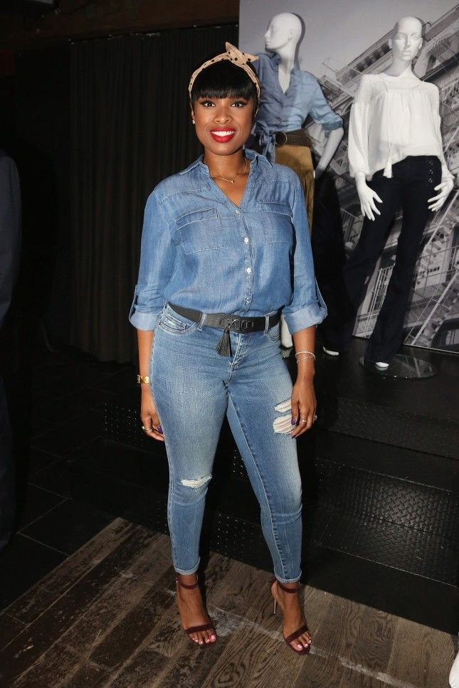 These 3 Celebs Made the Same Denim-on-Denim Outfit Look SO Different via Brit + Co.
