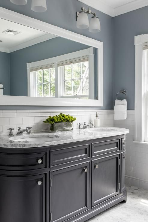Simple Bathroom Colors Blue Up My Mind Between A Large Mirror Like This Inside Ideas