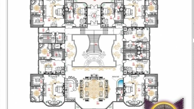 Bespoke Luxury House Plan In Dubai By Luxury Antonovich Design Luxury House Plans Luxury House Luxury Floor Plans