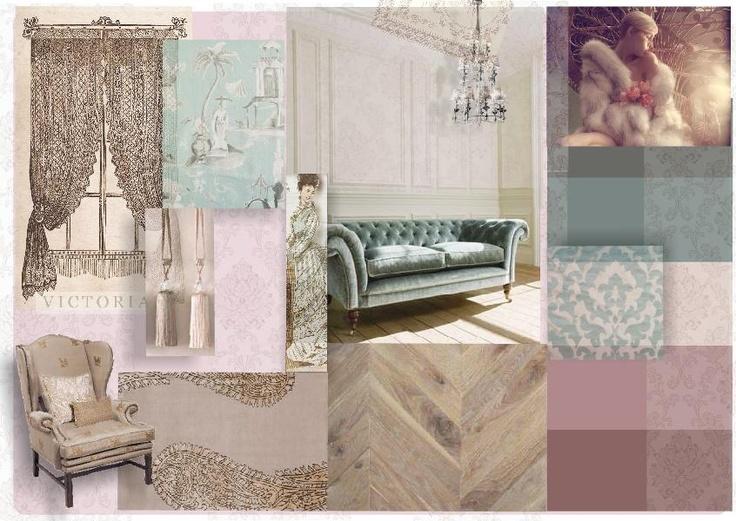 Interior inspired by the Victorian Era #moodboard #interior #victorian