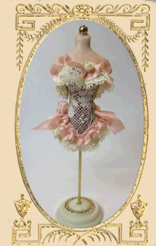 Fancy Corset Mannequin tutorial by Cynthia Howe