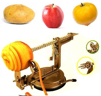 Core #slice peel #apple peeler #slicer dicer cutter for potato #fruit spin spiral,  View more on the LINK: 	http://www.zeppy.io/product/gb/2/322124180699/
