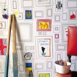 Go ahead and write on the walls with these creative wallpapers for kids (image by Design Public)