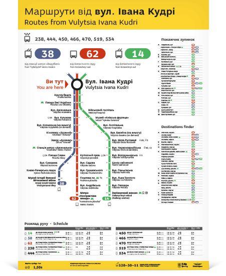 Bus stop information (concept), Kyiv, Ukraine   Igor Skliarevsky.