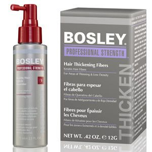 Bosley Professional Strength products for thinning hair.