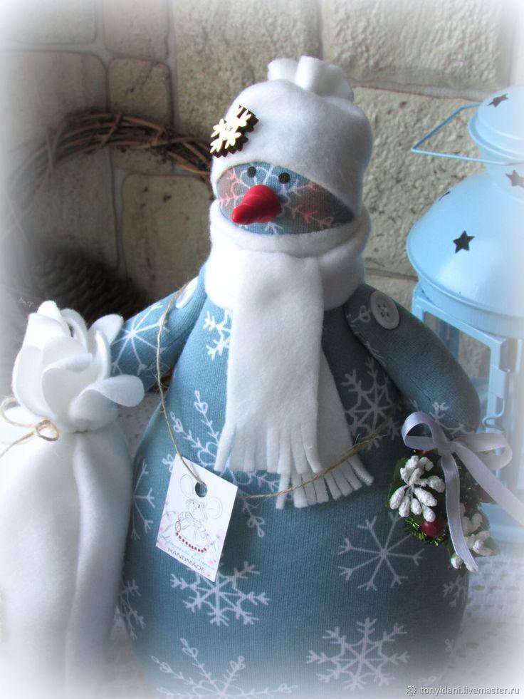 Купить Снеговик в стиле Тильда - 3 в интернет магазине на Ярмарке Мастеров