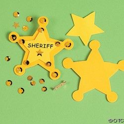 "FOAM ""SHERIFF"" BADGE CRAFT KIT-Wild Wild West Week"