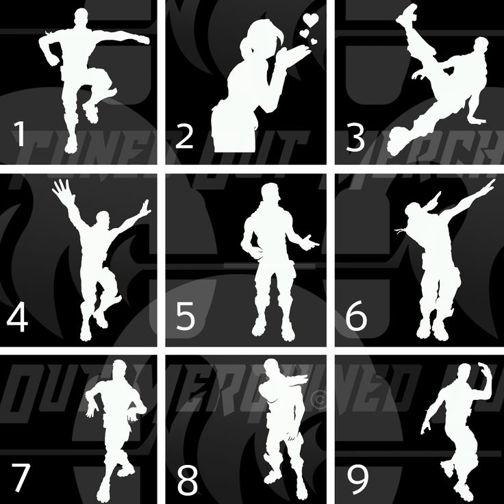 Image Result For Fortnite Dance Moves Silhouettes