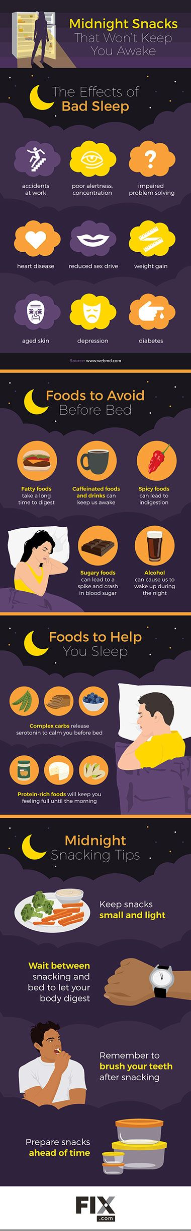 Midnight Snacks That Won't Keep You Awake [Infographic]