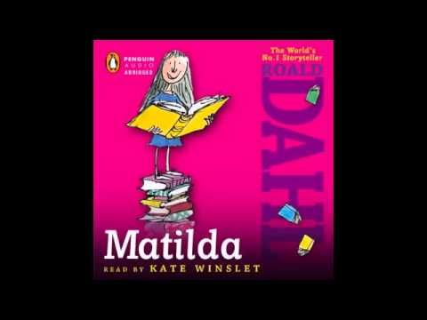 Matilda by Roald Dahl. Full audiobook beautifully read by Kate Winslet. I am using this audiobook in my 8th grade ESL literature class.