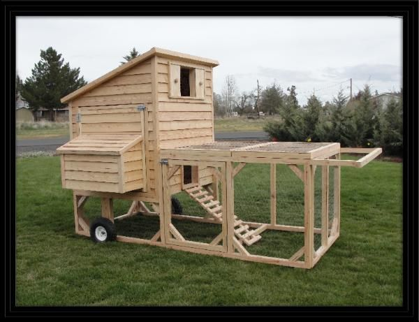Mobile chicken coop plans the image kid for Mobile chicken coop plans