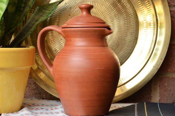 Handmade Terracotta pitcher, Terra-cotta pitcher, water jug