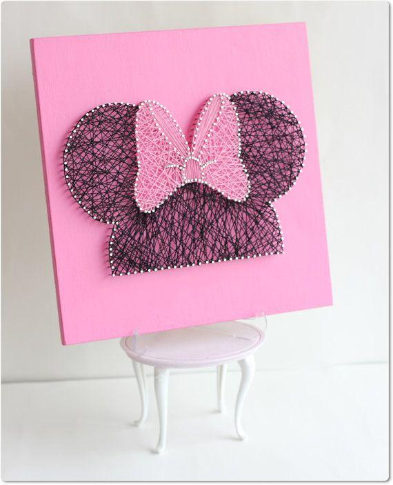 Minnie String Wall Art by mintiwall on Etsy