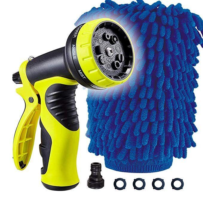 Aopobo Upgrade Garden Hose Nozzle Multi Use Mitt No Squeeze Hose Sprayer With 9 Adjustable Watering Patterns Suitable Hose Nozzle Garden Hose Water Garden