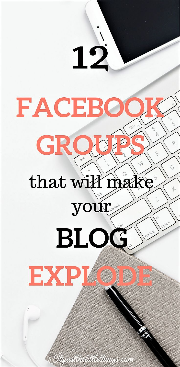 12 facebook groups to join to boost your blog traffic. Facebook groups for bloggers. Blogging for beginners. Blogging tips. Blog traffic. Increase page views.