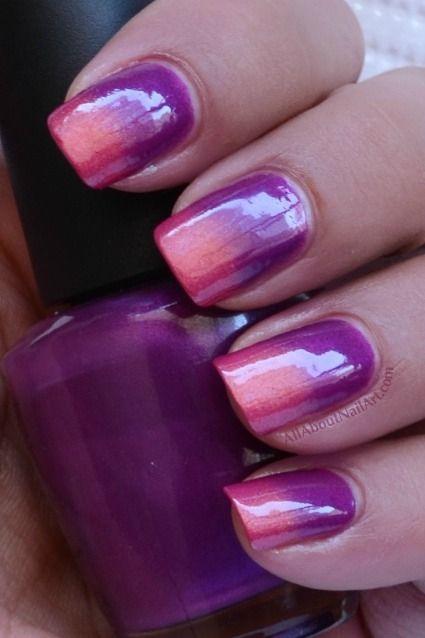 AllAboutNailArt.com: Sponged gradient nail art