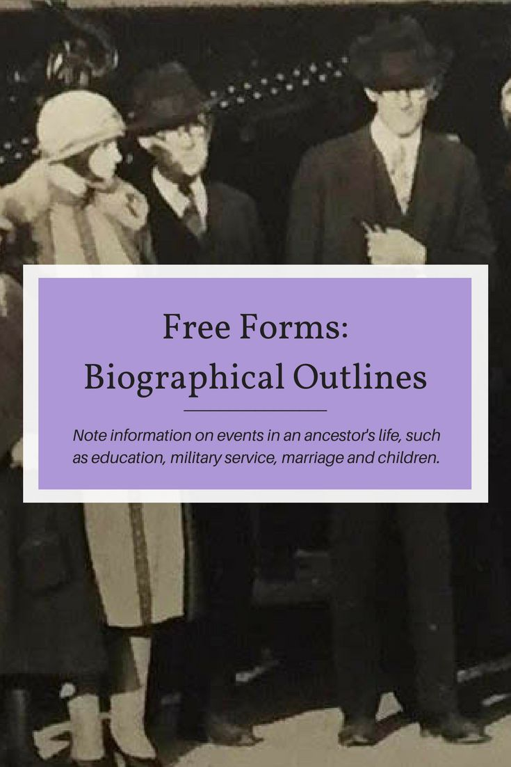 Free Forms Biographical Outline 57 best Printable