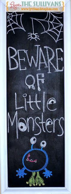 {Love, the Sullivans} Halloween chalkboard art