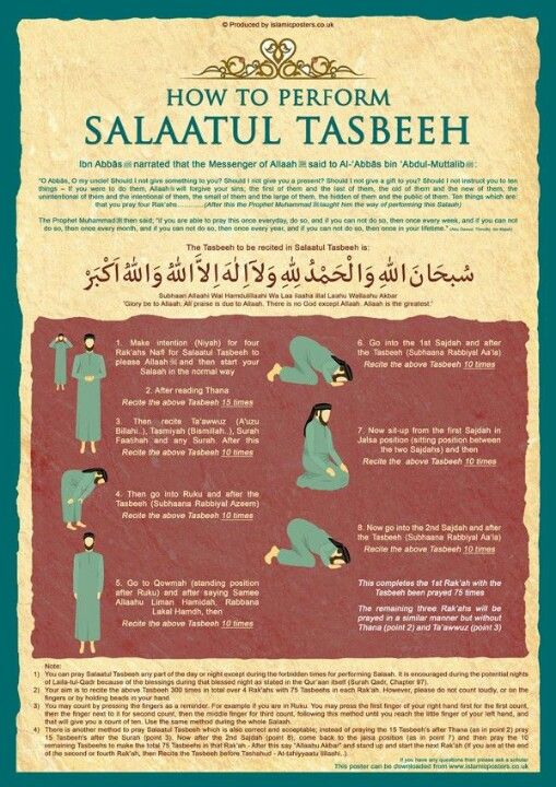 Learn how to offer Salat ul Tasbeeh