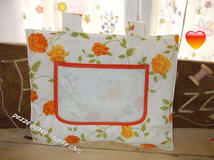 COPRI FORNO ORANGE FLOWERS, by pezze pazze, 13,00 € su misshobby.com