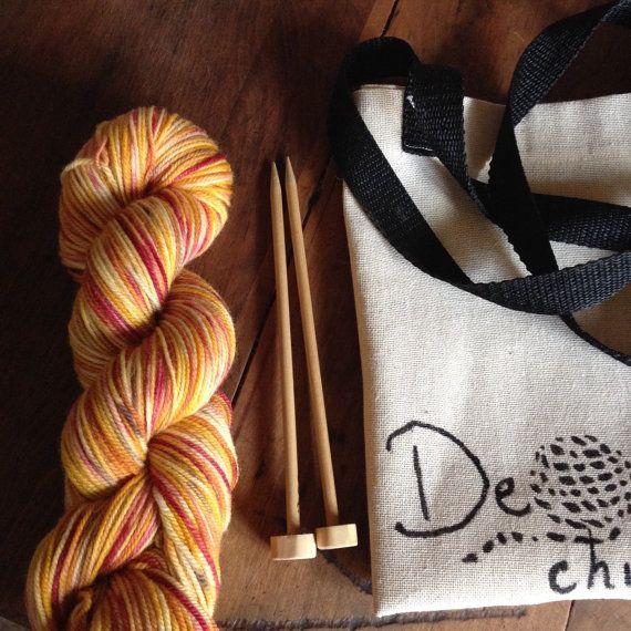 Knitting kit by deorigenchile on Etsy