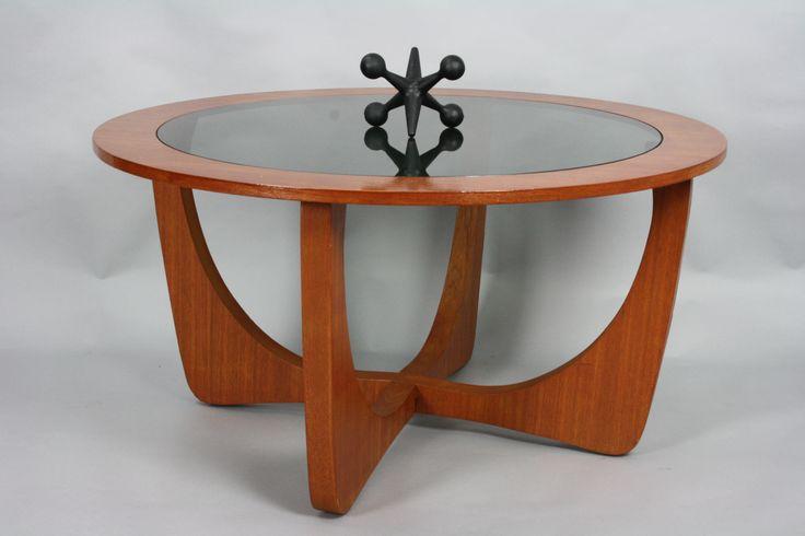 Mid Century Astro Teak and Glass Coffee Table Retro Vintage | 360 Modern Furniture