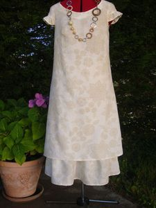 Robe longue en lin