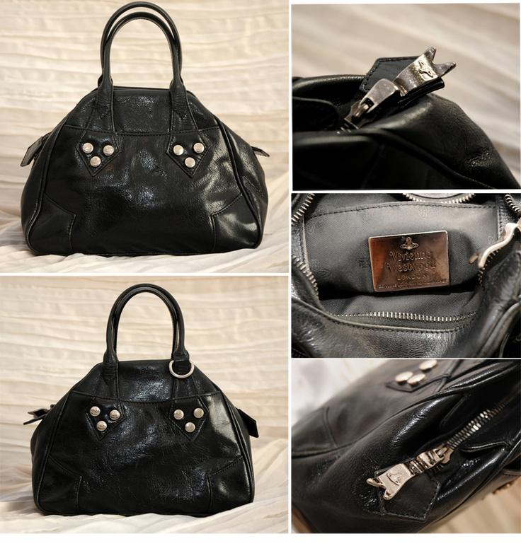 Borsetta pelle nera con borchie Vivienne Westwood € 80,00  per info: info@petitnoir-vintage.it