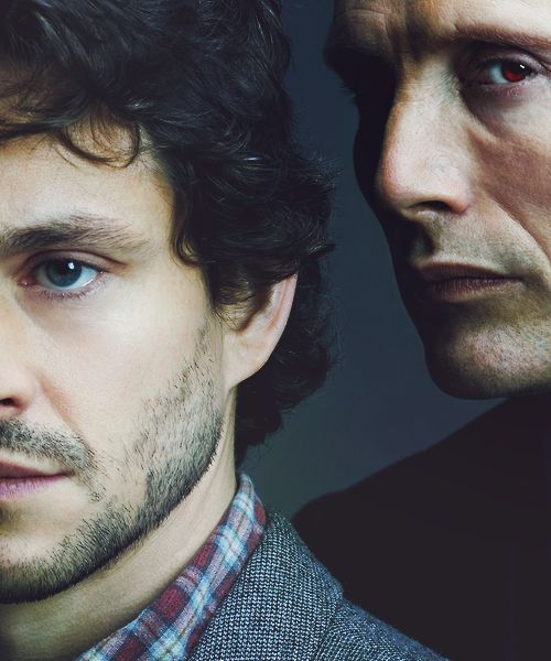 Hugh Dancy and Mads Mikkelsen in the NBC series Hannibal