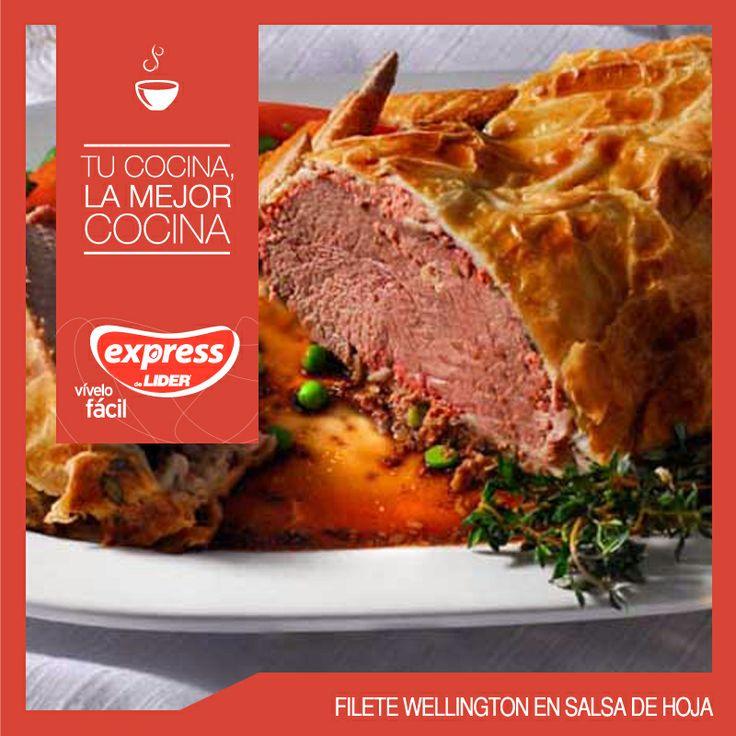 Filete Wellington en salsa de hoja #Recetario #Receta #RecetarioExpress #Lider #Food #Foodporn #Mundial #Australia