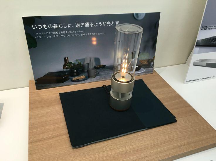 LEDスピーカー。真空管のような構造で音が良く、デザインもスマートでインテリアとして飾りたくもなる。