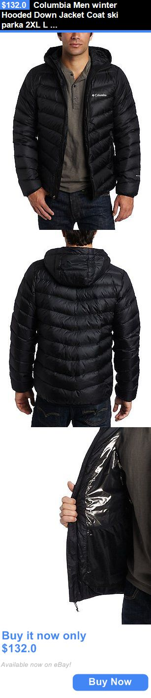 Men Coats And Jackets: Columbia Men Winter Hooded Down Jacket Coat Ski Parka 2Xl L S Black New BUY IT NOW ONLY: $132.0