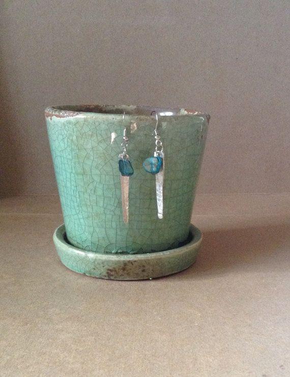 Hammered Fork Tine Earring...Handmade Vintage by 1840VintageLane