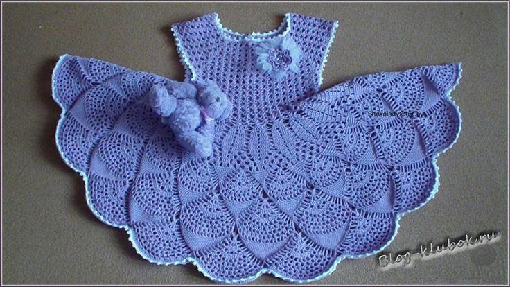 Детское платье крючком пошаговое вязание