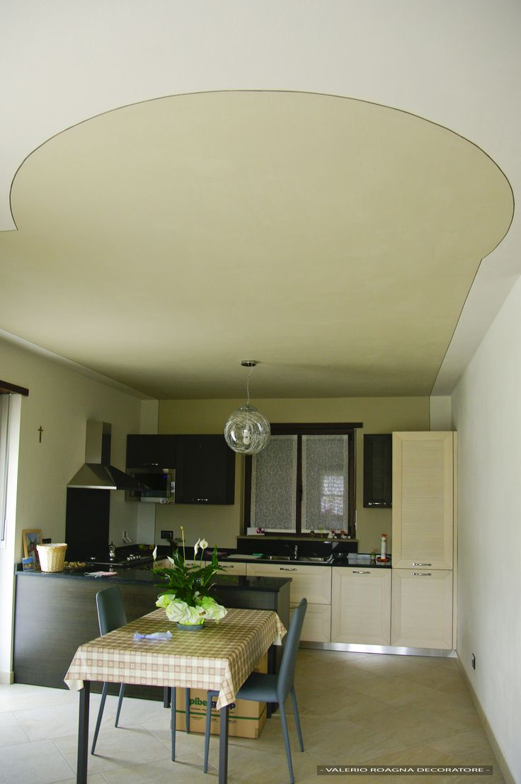 cucina e decoro a soffitto