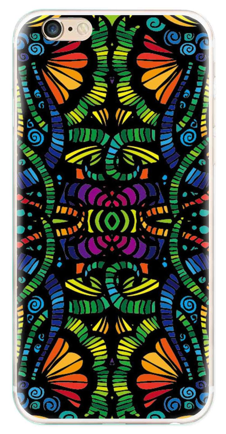 Whatskin DIY Style Colored Painting Series 01 Clear Back Cover for iphone 6