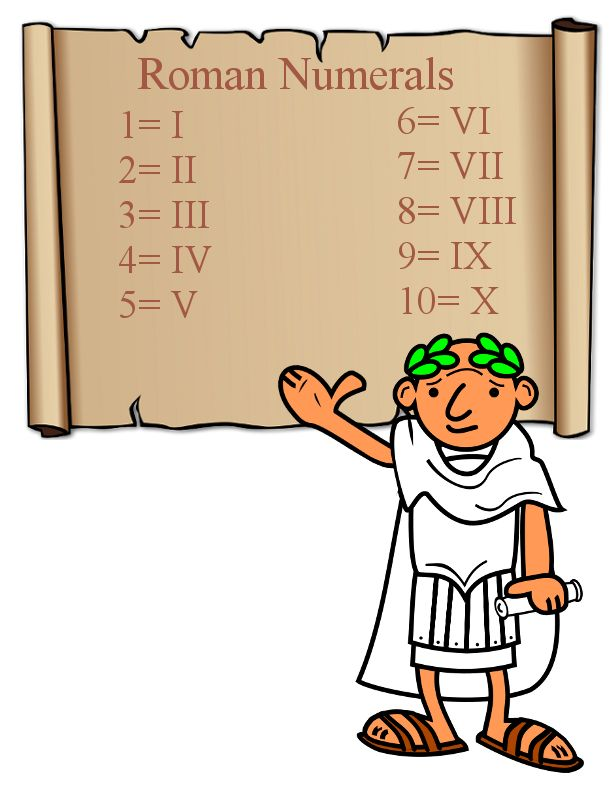 Clubhouse Academy: Free Printable Roman Numerals Poster Chart