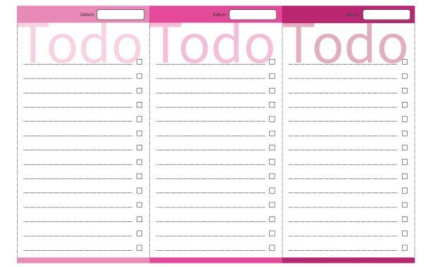 Aufgabenliste selber ausdrucken