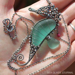 Spanish Artist Creates Whimsical Sea Horses From Sea Glass - To me sea glass is a precious stone.
