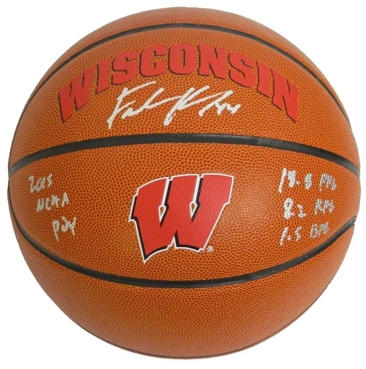 AAA Sports Memorabilia LLC - #FrankKaminsky Signed #Wisconsin #Badgers Rawlings Brown Logo Basketball w/2015 POY Stats (KAMBSK215), $144.95 (http://www.aaasportsmemorabilia.com/ncaa/wisconsin-badgers/frank-kaminsky/frank-kaminsky-signed-wisconsin-badgers-rawlings-brown-logo-basketball-w-2015-poy-stats-kambsk215/)