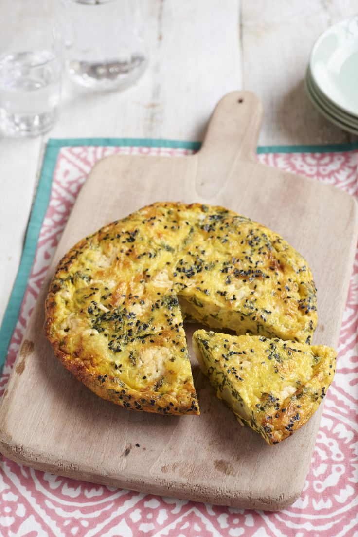 Cornish cheddar and seaweed frittata by Lee Westcott of the acclaimed restaurant, Typing Room, in London...