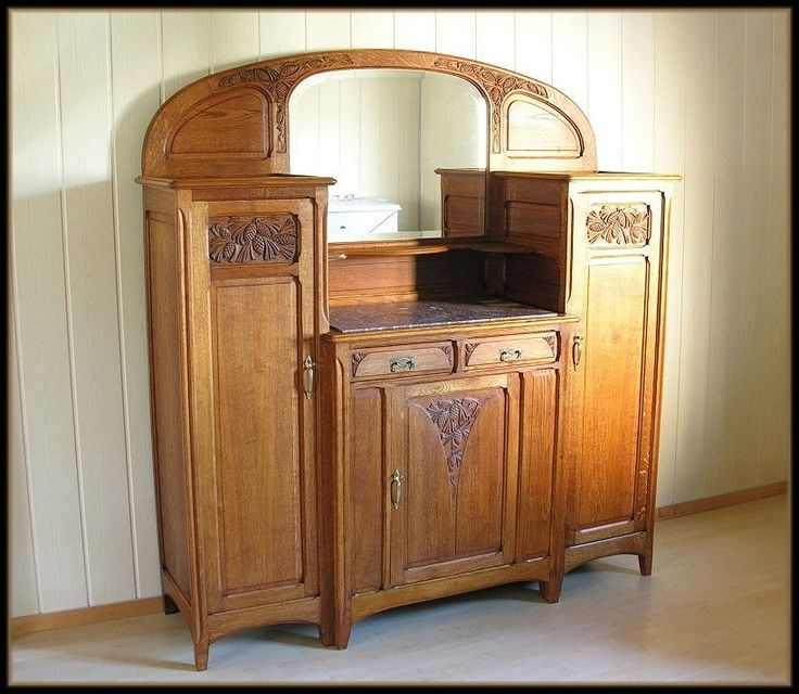 antik jugendstil buffet anrichte aufsatzbuffet. Black Bedroom Furniture Sets. Home Design Ideas