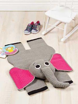 Tejido Facil: Idea: alfombra elefante
