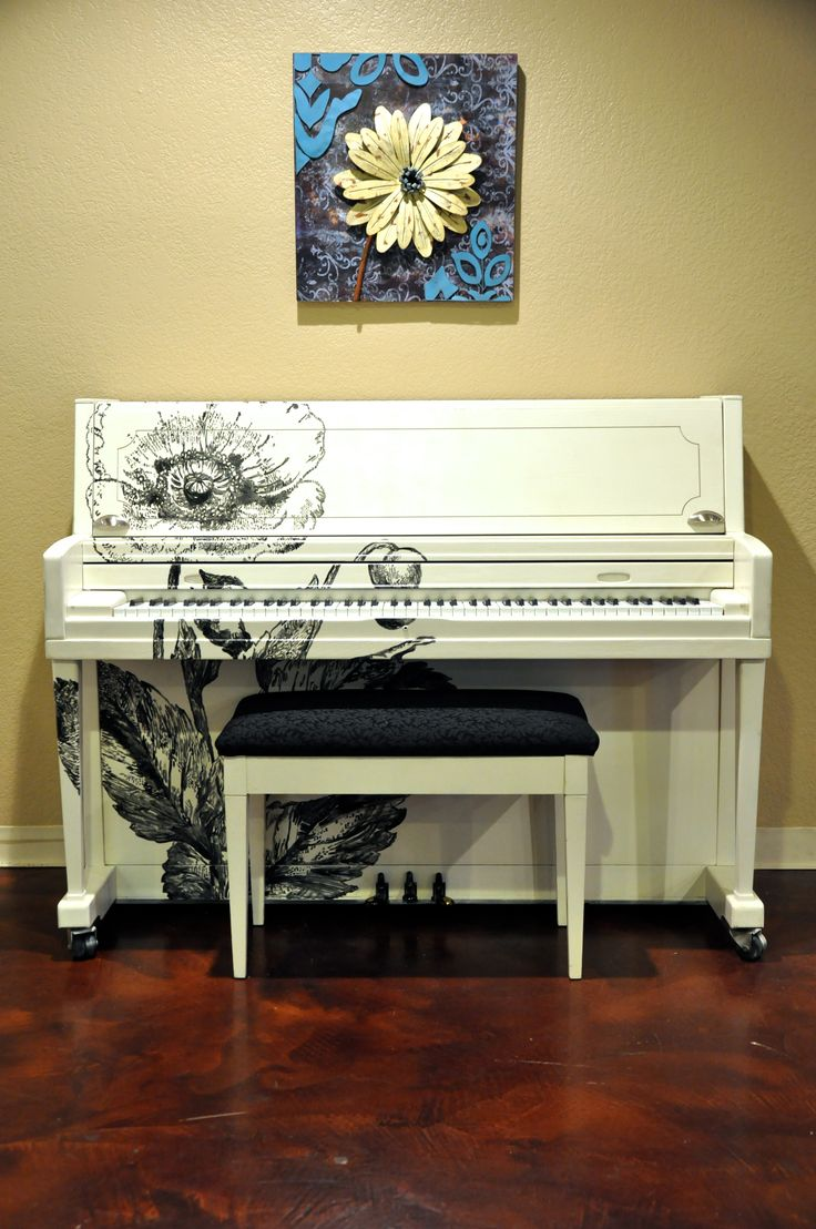 Wildflower! Wurlitzer studio upright in one of the coolest refinish jobs out there!
