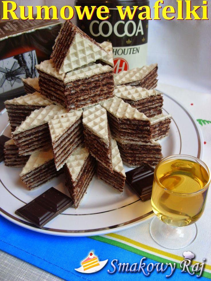 Smakowy Raj - blog kulinarny: Wafelki kakaowo – rumowe