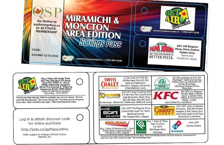 Moncton & Miramichi Savings Pass