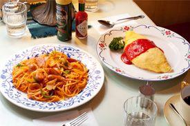 ナポリタン オムライス  ketchup spagetti omilet rice