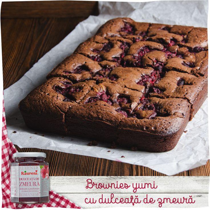 Brownies cu dulceață de zmeură Râureni
