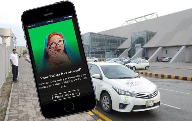 Teksi tawar perkhidmatan peluang bertemu pencari jodoh Rishta aunty   APLIKASI perkhidmatan teksi di Pakistan sekali lagi menarik perhatian ramai apabila menawarkan perkhidmatan tambahan yang agak aneh iaitu penumpang berpeluang bertemu pencari jodoh ketika menaiki teksi.  Rishta aunty  Careem  aplikasi perkhidmatan teksi yang menyerupai Uber menawarkan makcik Rishta (Rishta aunty) untuk menemani penumpang sepanjang perjalanan.  Namun perkhidmatan oleh itu hanya disediakan selama dua hari…
